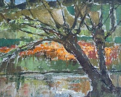 Tree in the Park Landscape Mid Century Modern 1950