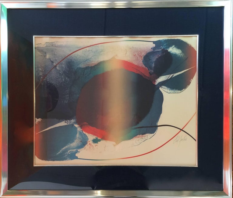 Paul Jenkins Abstract Print - Phenomena Open Light
