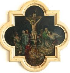 Religious Painting Christ on the Cross