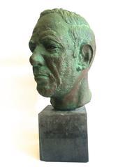 Bronze Sculpture Head of Man