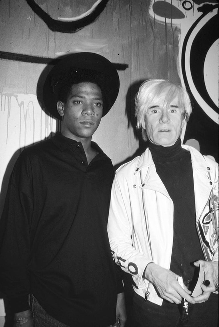 Roxanne Lowit Black and White Photograph - Jean-Michel Basquiat and Andy Warhol