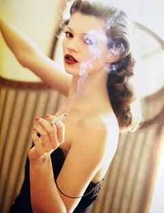 Kate Moss smoking in Paris