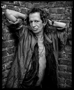 Keith Richards - portrait of the Rolling Stones music legend and rock star