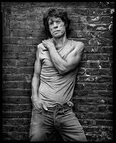Mick Jagger - b&w portrait of the Rolling Stone music legend and rock star