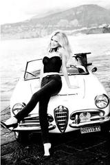 Claudia Schiffer with Car