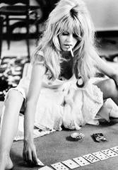 Brigitte Bardot playing cards