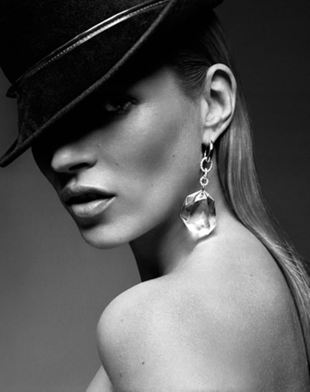 Rankin Black and White Photograph - Kate Moss with Hat