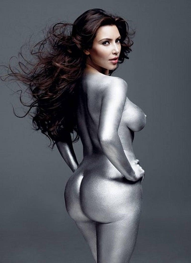 Mark Seliger Nude Photograph - Kim Kardashian Silver I