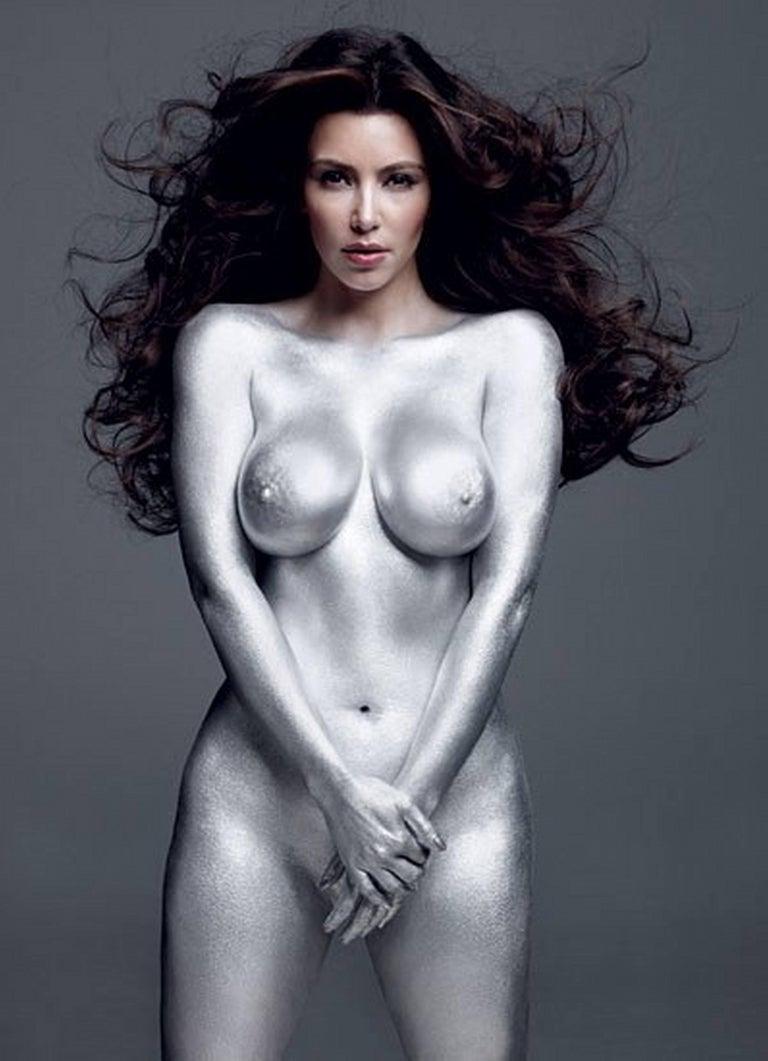 Mark Seliger Nude Photograph - Kim Kardashian Silver II