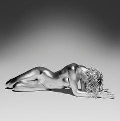 Sadarnuna - silver nude picture of a ballerina/dancer from the Argentum series