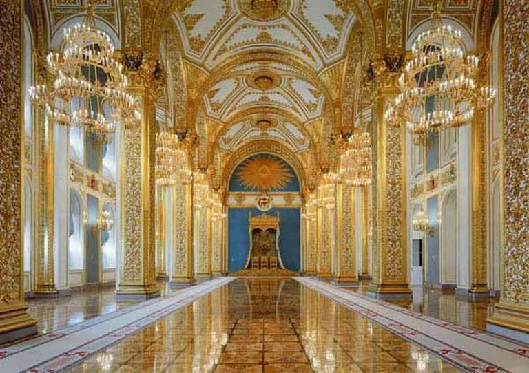Robert Polidori Color Photograph - St. Andrew's Room, Throne Chair, Kremlin Moscow, Russia