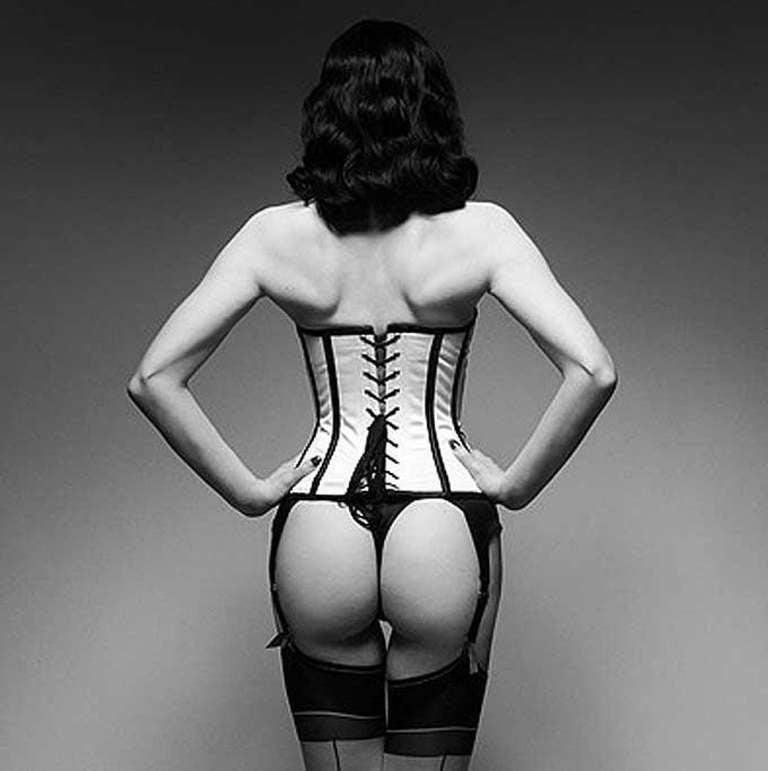 Rankin Black and White Photograph - Pounting Dita