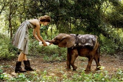 Keira Knightley with Elephant