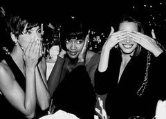 Linda Evangelista, Naomi Campbell and Christy Turlington - supermodels in b&w