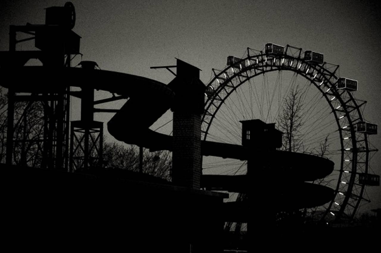 Andreas H. Bitesnich Black and White Photograph - Riesenrad, Vienna