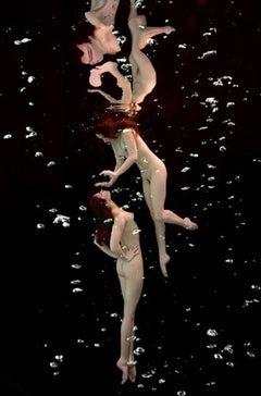 Underwater Study # 2517 - nude portrait of two models floating underwater