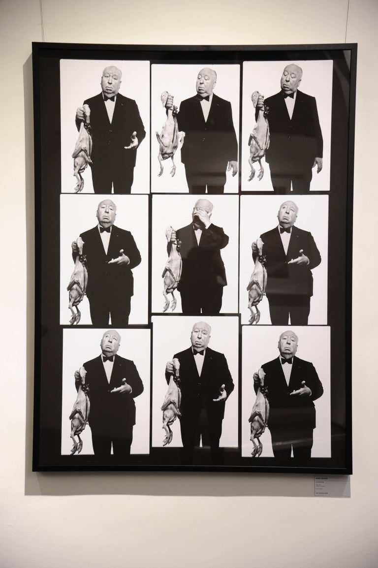 Alfred Hitchcock with Goose Contact Sheet - Photograph by Albert Watson