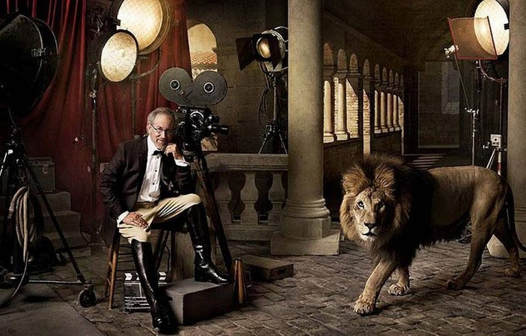 Mark Seliger Portrait Photograph - Steven Spielberg