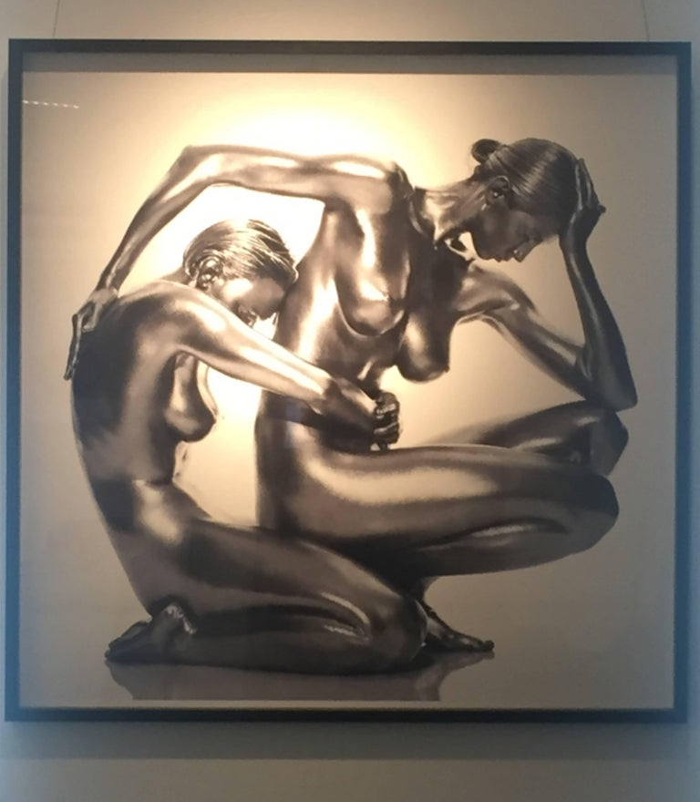 Classical silver nude picture of two models/dancers - from the Argentum series of antique goddesses and sculptures.   PREISS FINE ARTS is one of the world's leading galleries for fine art photography representing the most famous contemporary
