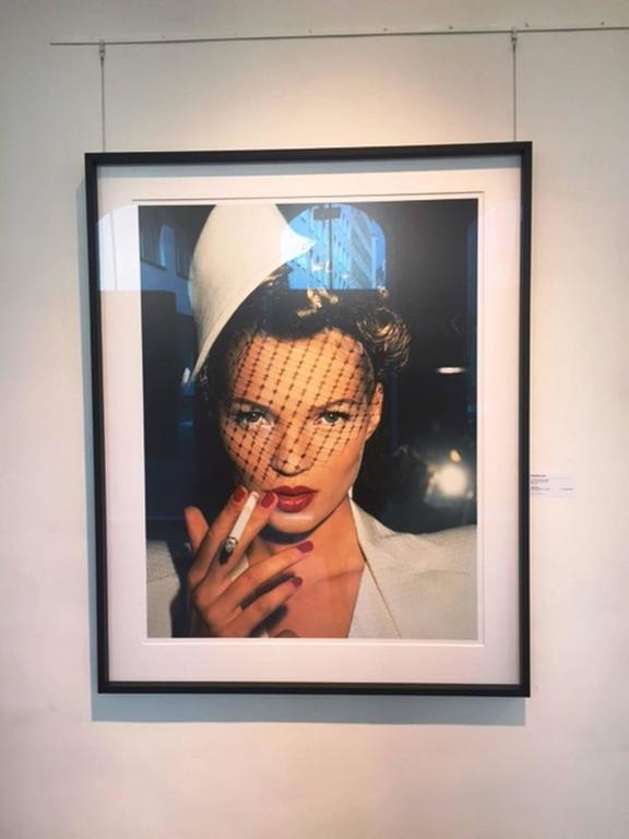 Kate with Fag in Galliano (Kate Moss) - Photograph by Roxanne Lowit