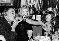 Salvador Dali and the reciepient of a kiss