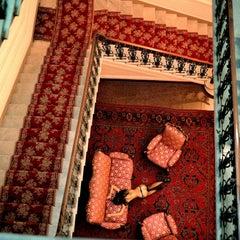 Marguerita on stairs
