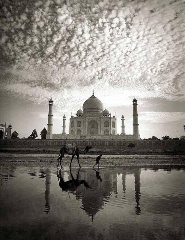 Andreas H. Bitesnich Black and White Photograph - Taj Mahal