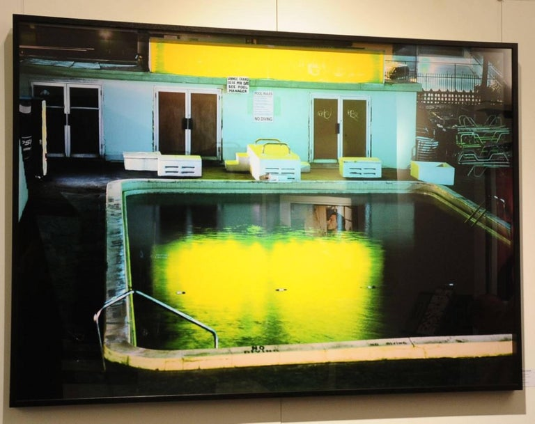 Yellow Pool - Photograph by David Drebin