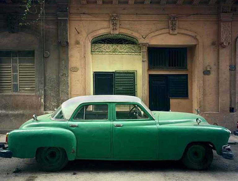 Robert Polidori Color Photograph - Green Car, Havana, Cuba