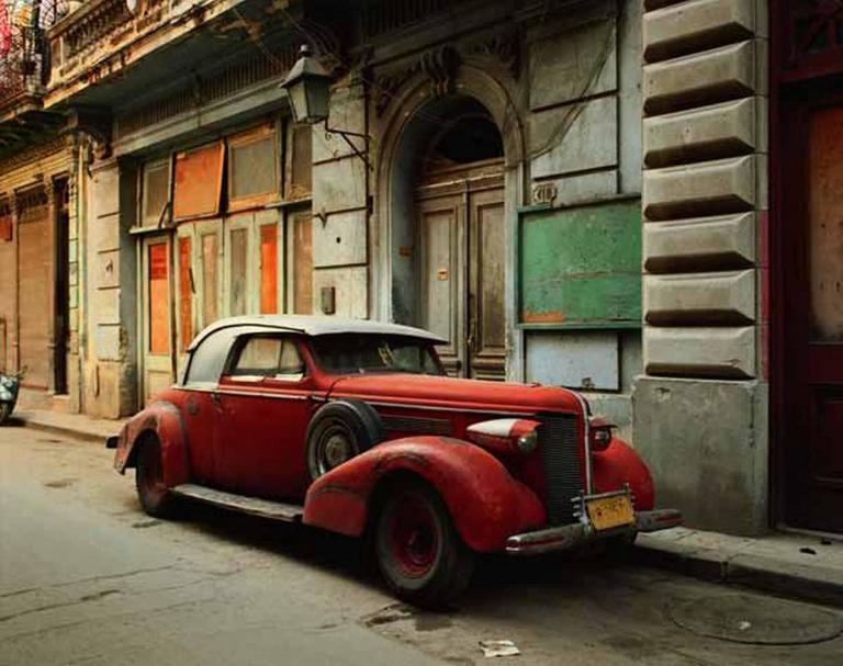 Robert Polidori Color Photograph - Vintage Car with Composite Parts, Havana, Cuba