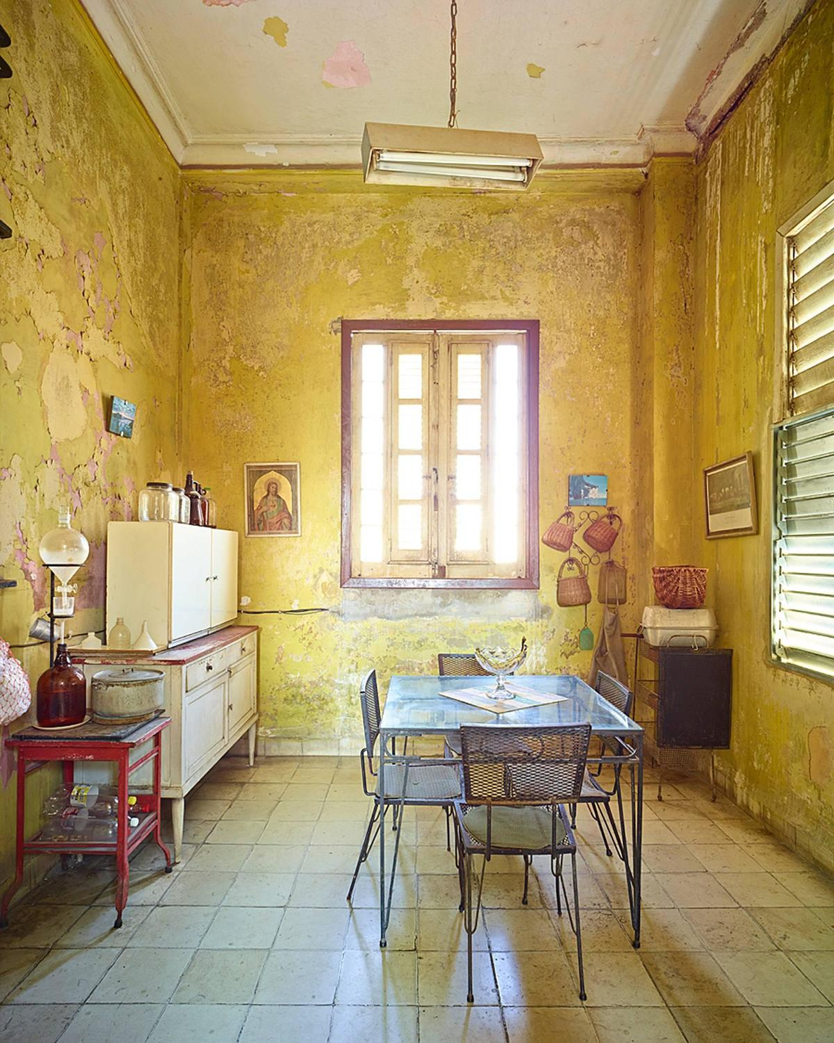 david burdeny yellow kitchen havana cuba 2014 at 1stdibs