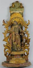 18th century Polychromed Statue of Saint Joseph