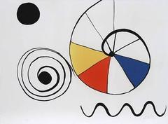 Alexander Calder - Spirale en trois couleurs