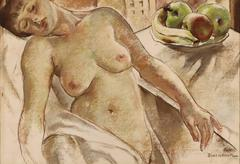 Nude with bowl