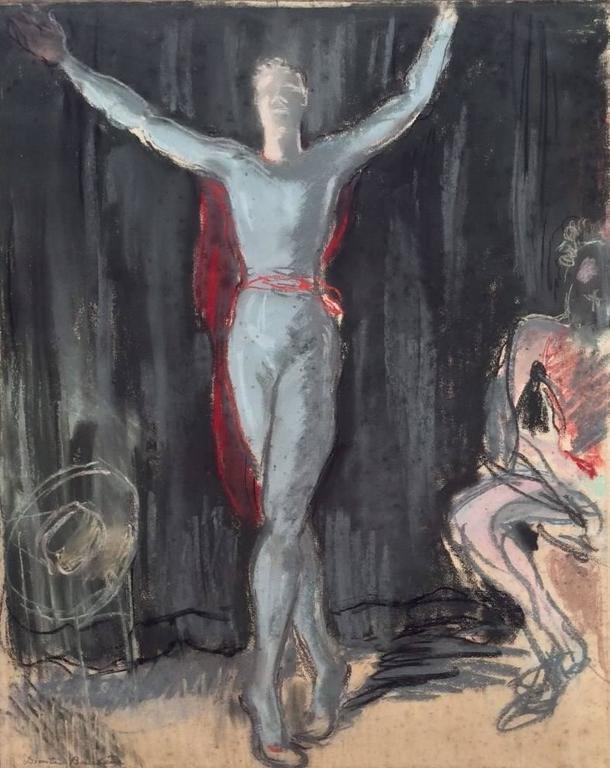 Portrait of Serge Lifar - Art by Dimitri Bouchene