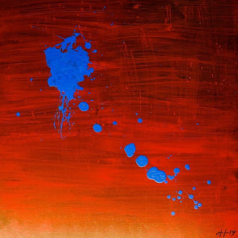 Morel Orta Abstract Painting - Homage to Miro 1