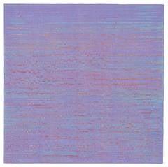 Silk Road 259, Pale Purple and Light Blue Encaustic Color Field Painting