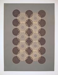 Tan Circles Black Dots