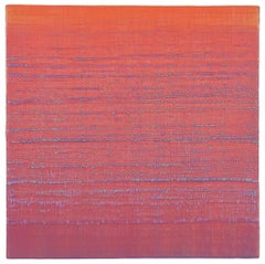 Silk Road 221, Orange, Pink and Lavender Purple Encaustic Color Field Painting