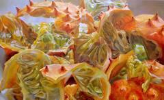 Myriad Ravines, Large Still Life Oil Painting of Kiwano Melon, African Fruit
