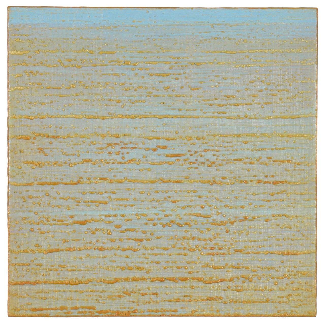 Joanne Mattera - Silk Road 273, Pale Blue and Sand Encaustic Color ...