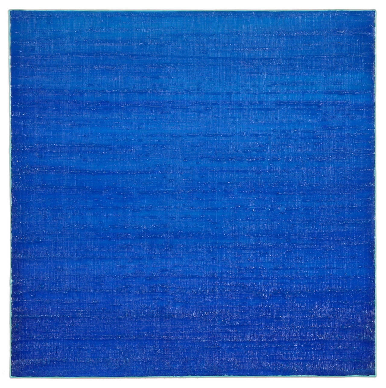 Joanne Mattera Silk Road 280 Royal Blue Encaustic Color Field Painting