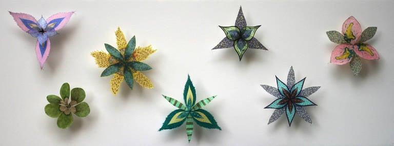 Jill parisi colorburst pinwheels pinned paper flowers in green jill parisi still life sculpture colorburst pinwheels pinned paper flowers in green mightylinksfo