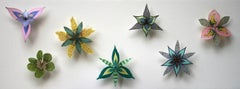 Colorburst Pinwheels, Pinned Paper Flowers in Green, Pink, Yellow, Purple