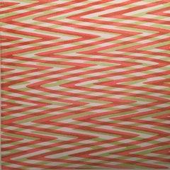 Waves variation 3, Geometric, Pattern in Red, Green, Blue Op Art, Modern, Series