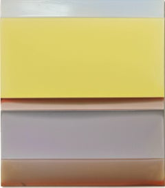 Pink Lift, Vertical Gloss Light Yellow, Lavender, Red, Pale Blue Color Fields