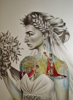 Bonaparte Bride: Crowned Thyself, Strong Regal Jewel Tone Woman Queen Portrait