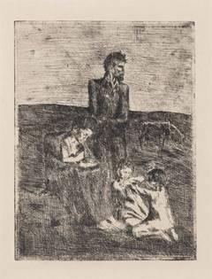 Pablo Picasso - Les Pauvres (from La Suite des Saltimbanques; B3)