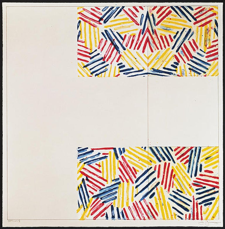 "Jasper Johns Abstract Print - No. 2, from 6 Lithographs (after ""UNTITLED 1975"")"
