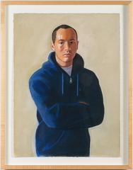Wilbur Urbina in Blue Jacket Pastel Drawing